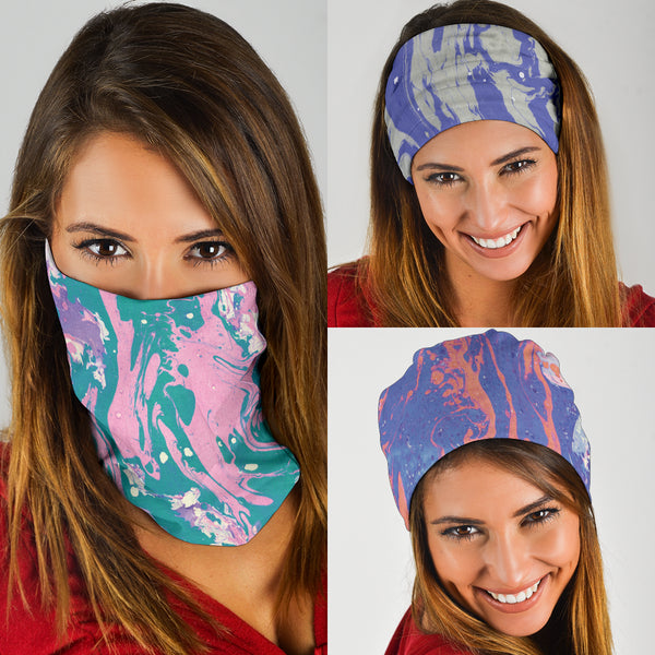 Marble Swirls Set 2 - Bandana 3 Pack