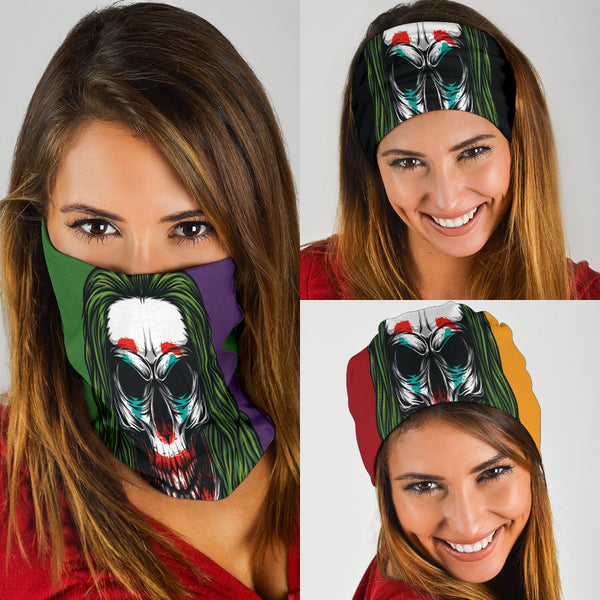 Joker Skull (3 Colour Ways) - Bandana 3 Pack