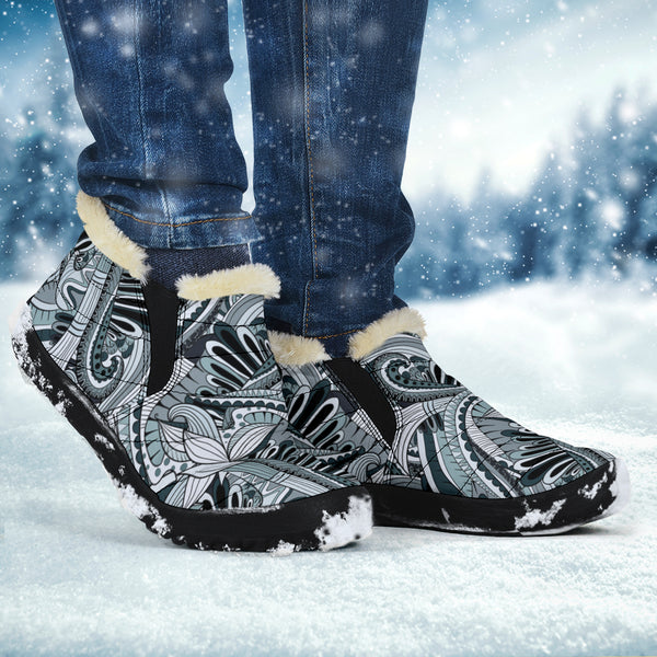 Funky Patterns (Black) - Winter Ankle Casuals