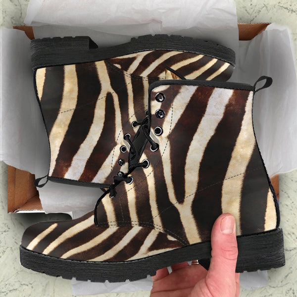 Zebra - Vegan Leather Boots