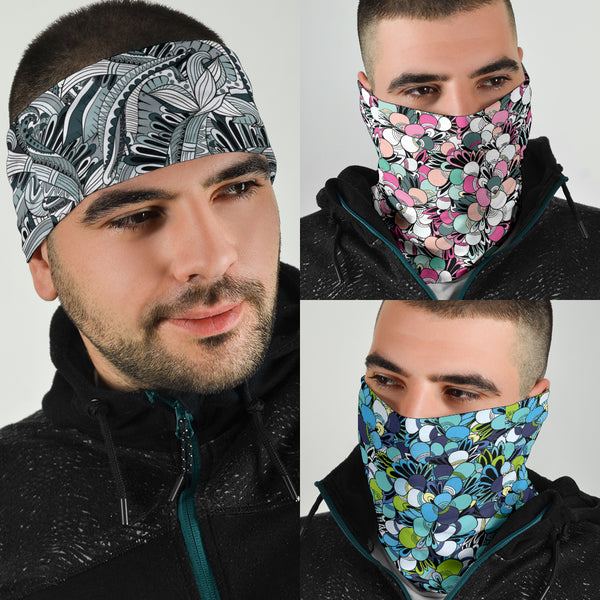 Funky Patterns Set 2 - Bandana 3 Pack