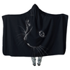 Black Cat at Night P2 - Hooded Blankets