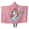 Unicorn Good Vibes - Hooded Blankets