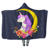 Blue Starry Night Unicorn - Hooded Blankets