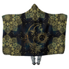 Sun & Moon Gold Mandalas - Hooded Blankets