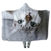 Cat Upside Down - Hooded Blankets