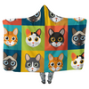Cats Squared - Hooded Blankets