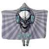 Rock Me Skull - Hooded Blankets