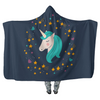 Midnight Blue Starry Unicorn - Hooded Blankets