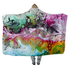 Abstract Multi Colour Liquids - Hooded Blankets