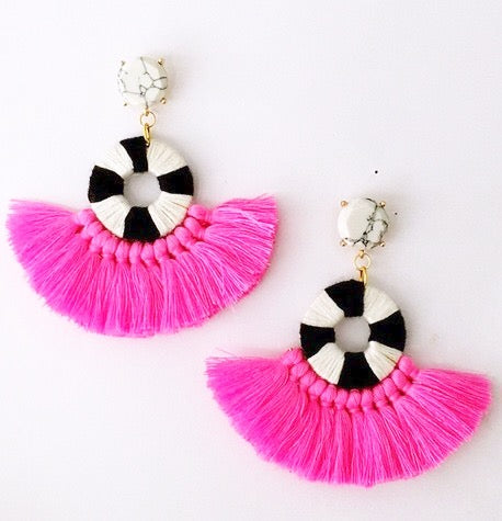 Fun Fringe Statement Earrings