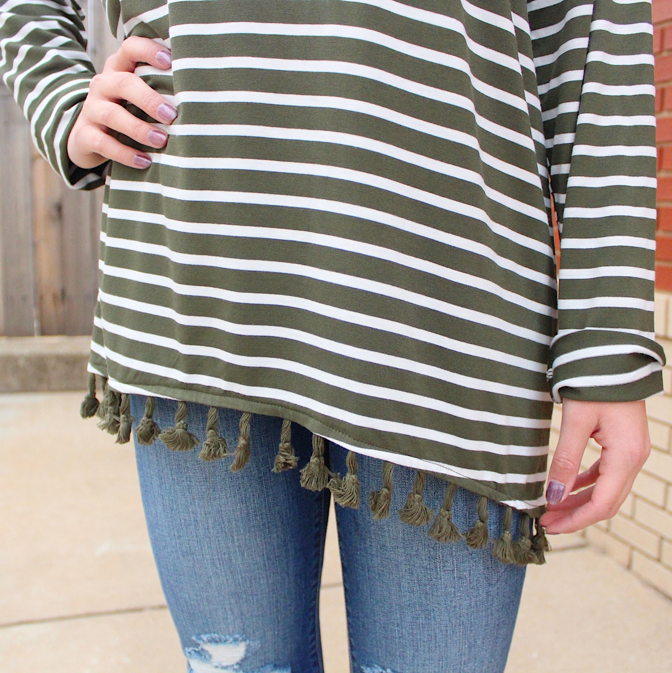 Tassel Trimmed Top