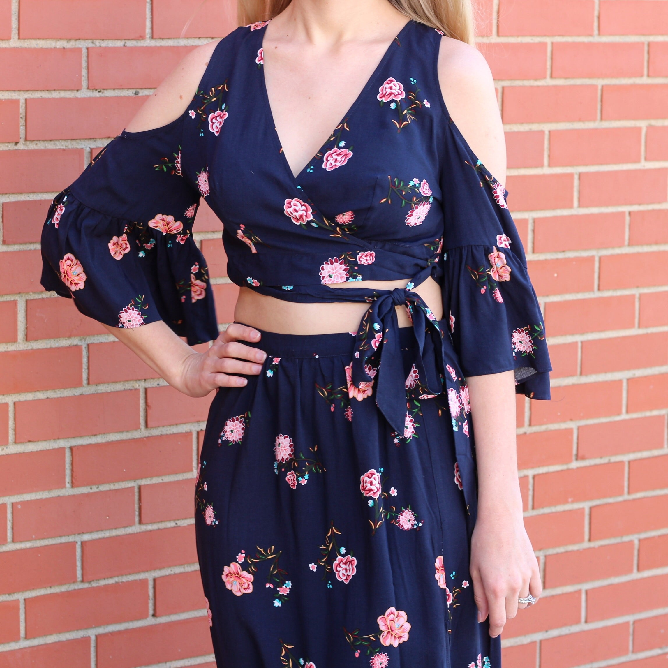 Two-Piece Floral Dress Set