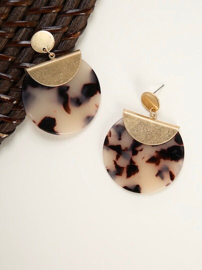 Gold & Tortoise Earrings
