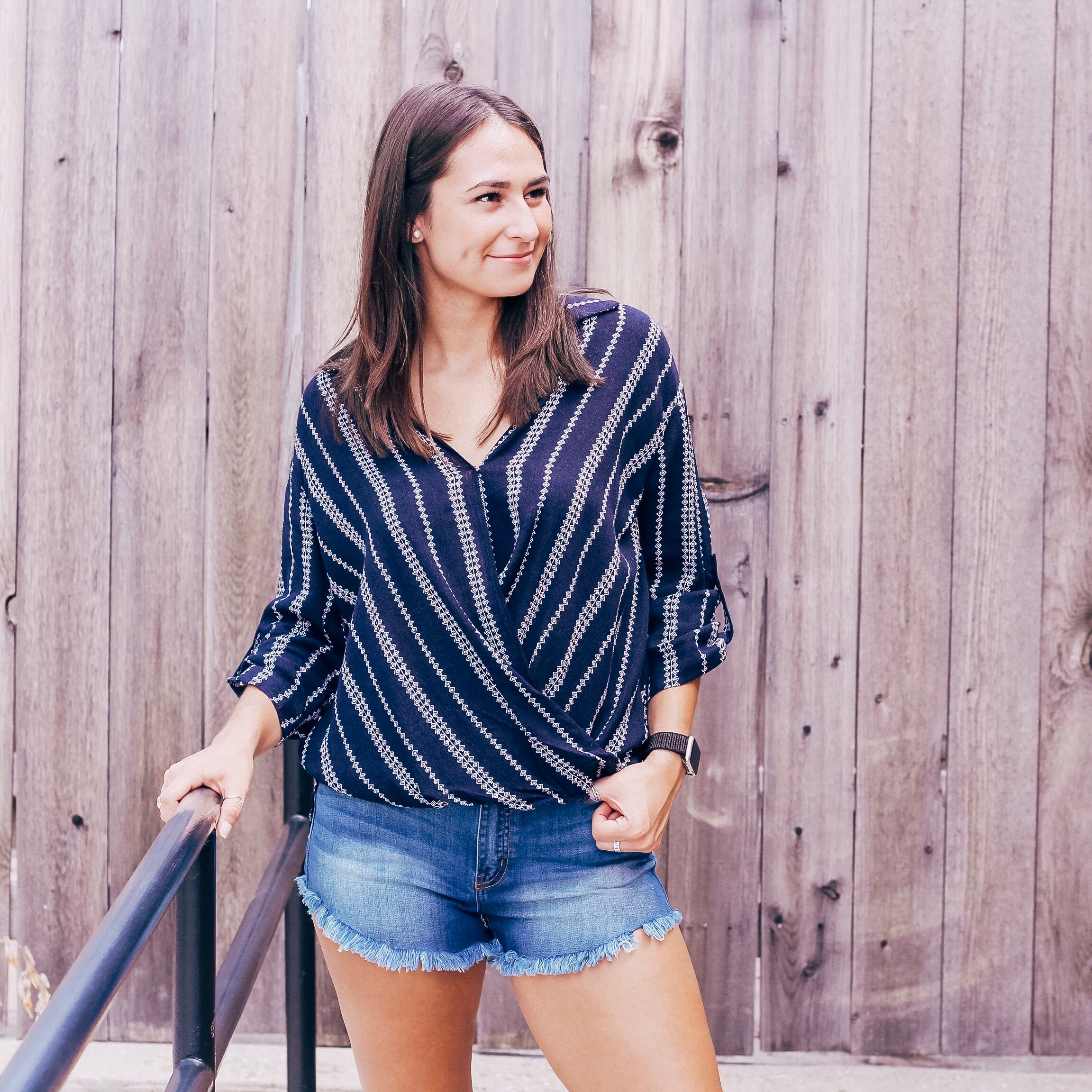 Stripe You Are - collared top