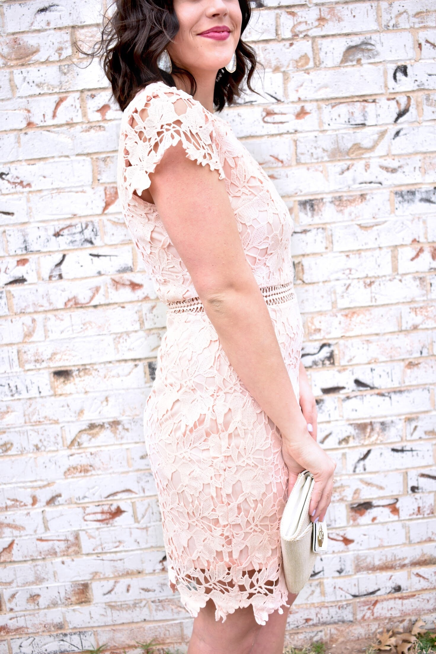 Blushing Over You - Lace Dress