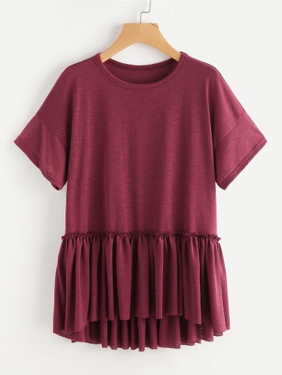 Crimson Babydoll Top