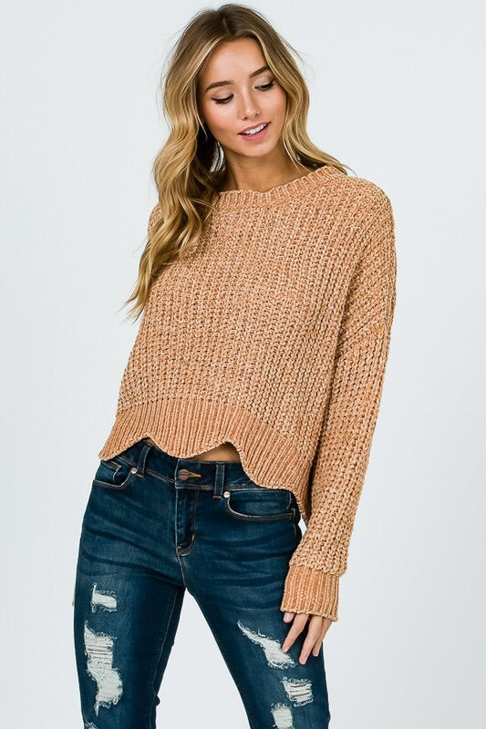 Scallop Hem Sweater