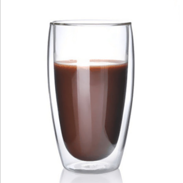 1 Pcs Heat-resistant Double Wall Glass Cup Beer Coffee Cup - Browser-buy.com