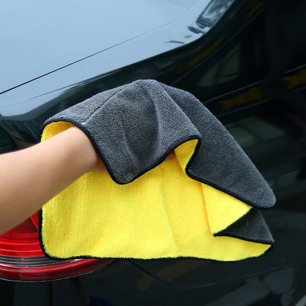 1pc Microfiber Towel Car Care Polishing Wash Towels Plush Washing - Browser-buy.com