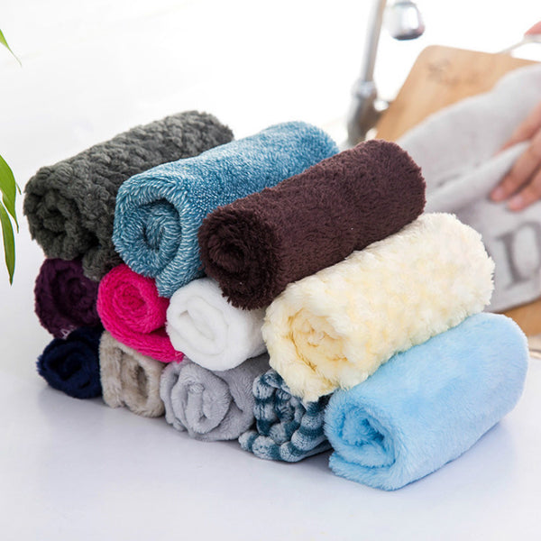Bamboo Fiber dish Cloth Kitchen Cleaner Wipping Washing Rags Cleaning - Browser-buy.com