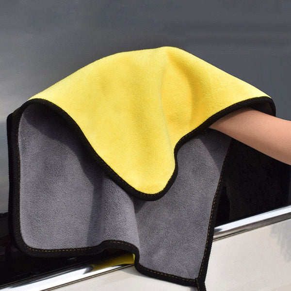 Wash Towel Microfiber Cloth Coral Velvet Glass Detailing Auto Window Cleaning - Browser-buy.com