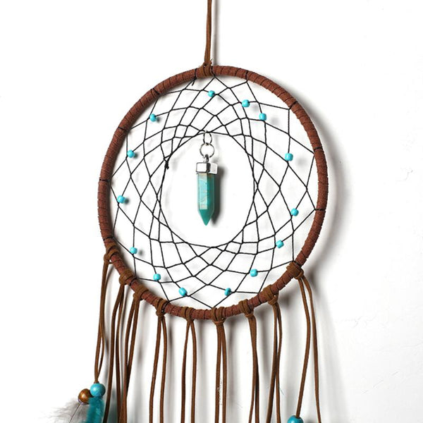 Handmade Dream Catcher Feather Colorful Living Room Garden Hanging Pendant - Browser-buy.com