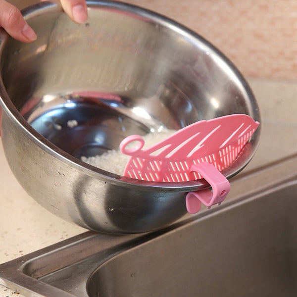 Leaf Shaped Rice Wash Gadget Noodles Spaghetti Beans Colanders & Strainers - Browser-buy.com