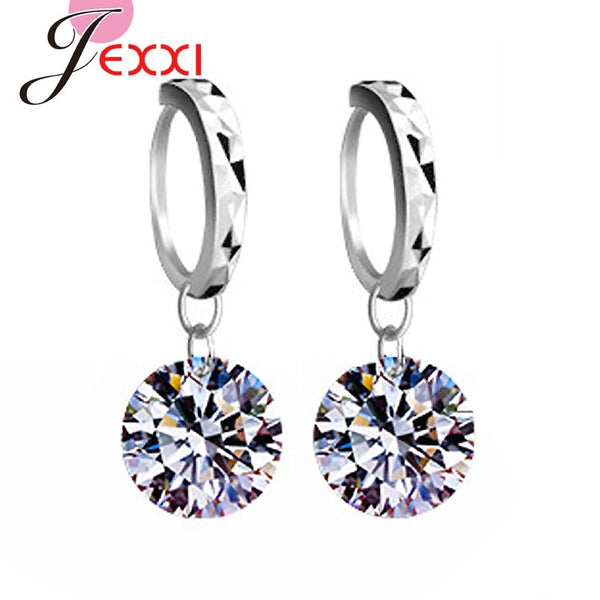 JEMMIN New 925 Sterling Silver Earrings High Quality Ladies Fashion Jewelry Romantic Gift For Lover Girlfriend 8 Colors Hot Sale - Browser-buy.com
