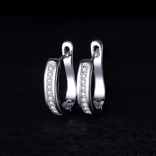 Jewelry Palace 925 Sterling Silver Earrings Anniversary Channel Eternity Earrings New Fine Jewelry Gift For Girlfriend - Browser-buy.com