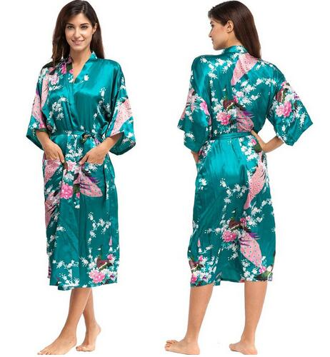 Satin Robes for Brides Wedding Robe Sleepwear Silk Pijama - Browser-buy.com