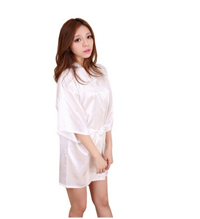 Sexy Large Size Sexy Satin Night Robe Lace Bathrobe Perfect - Browser-buy.com