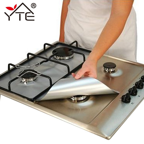1pc Reusable Gas Stove Burner Cover Liner Mat Fire Injuries Protection - Browser-buy.com