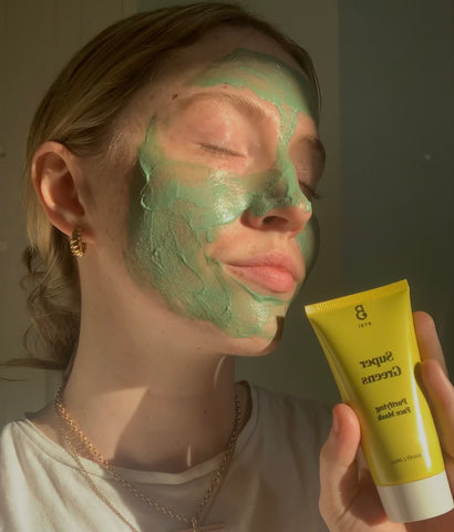 BYBI Super Greens purifying face mask is good for clarifying congested skin