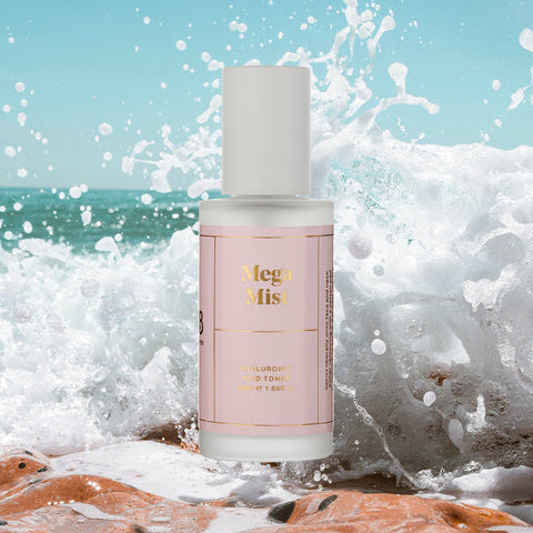 Mega Mist Hydrating Toning Face Mist With Hyaluronic Acid Rosewater And Aloe