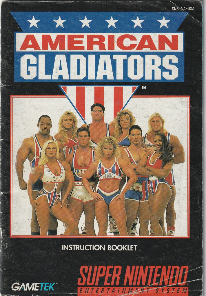 American Gladiators (SNES, Manual Only)