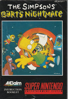 Barts Nightmare (SNES, Manual Only)