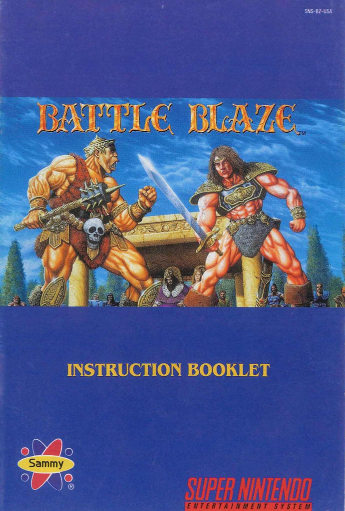 Battle Blaze (Manual Only, SNES)