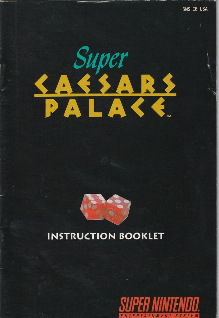 Caesars Palace (SNES, Manual Only)