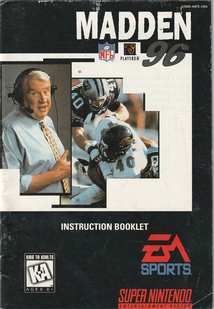 Madden 96 (SNES, Manual Only)