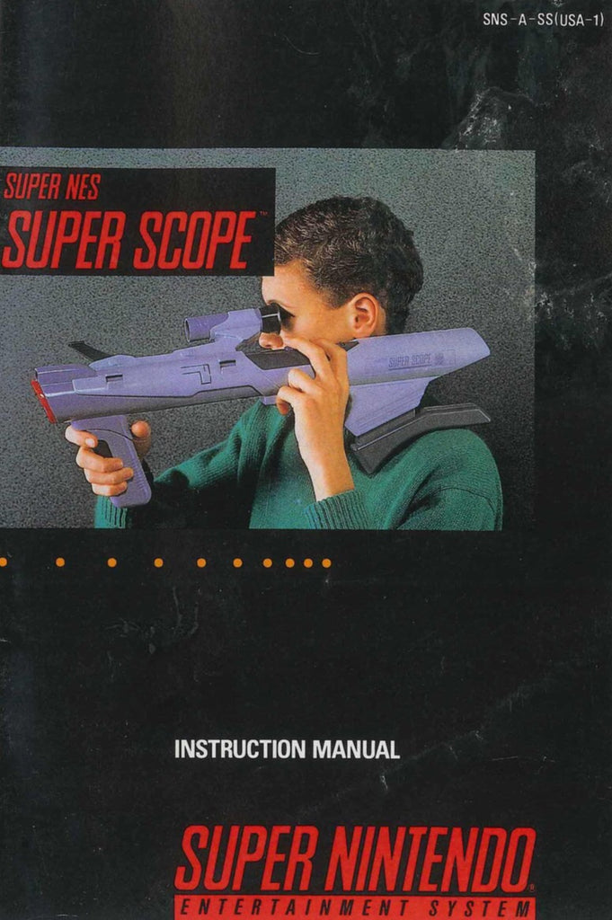 Super NES Super Scope (Manual Only, SNES)