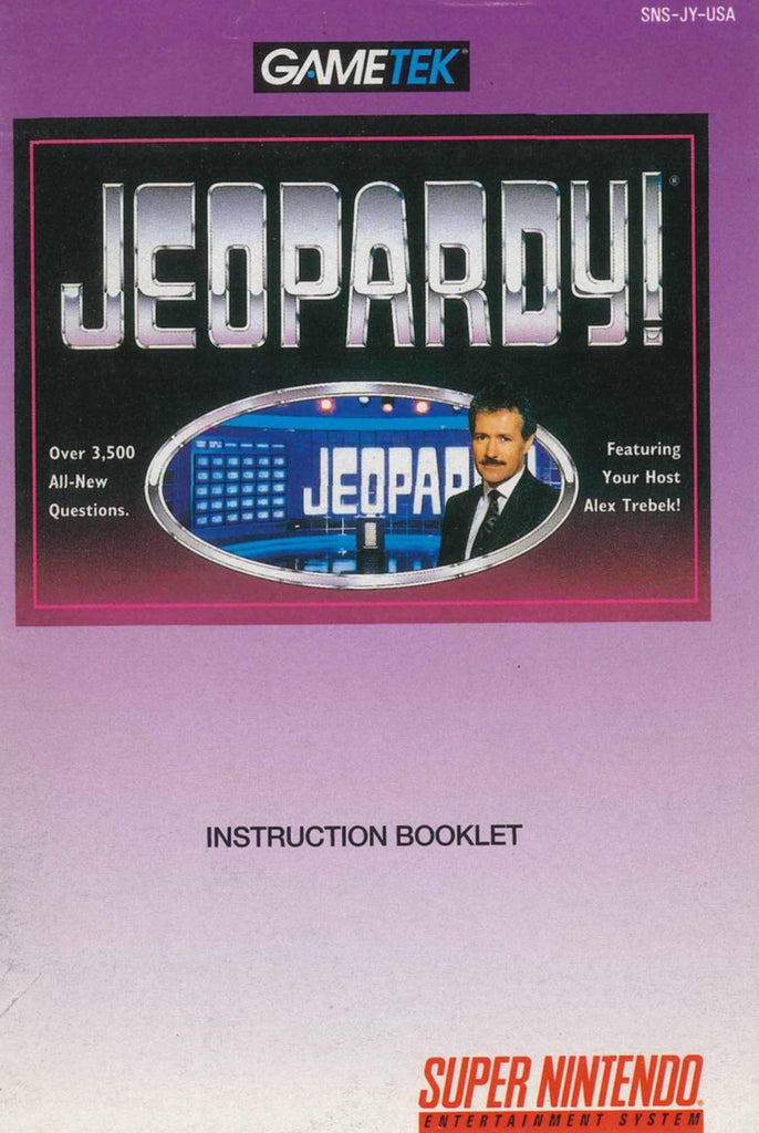 Jeopardy (Manual Only, SNES)