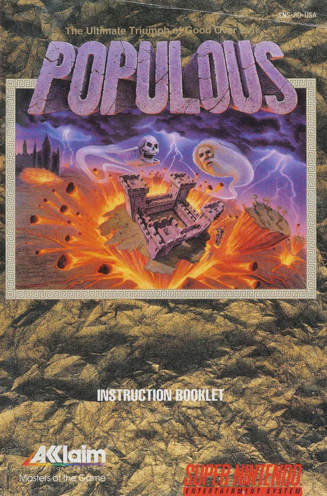 Populous (Manual Only, SNES)