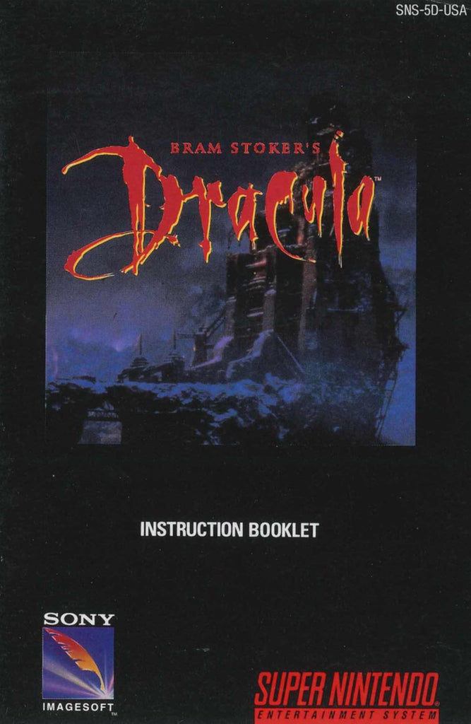Dracula (Manual Only, SNES)