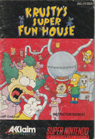 Krusty's Fun House (SNES, Manual Only)