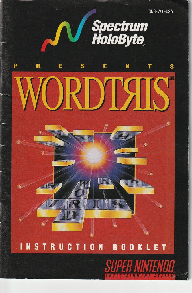 Wordtris (SNES, Manual Only)