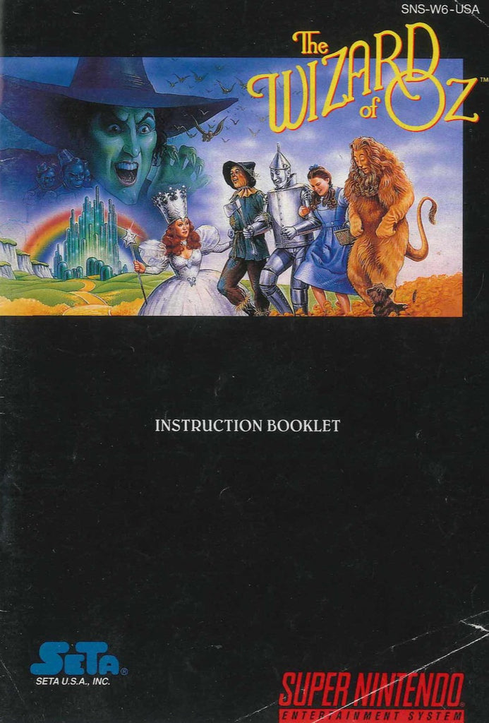The Wizard of Oz (Manual Only, SNES)