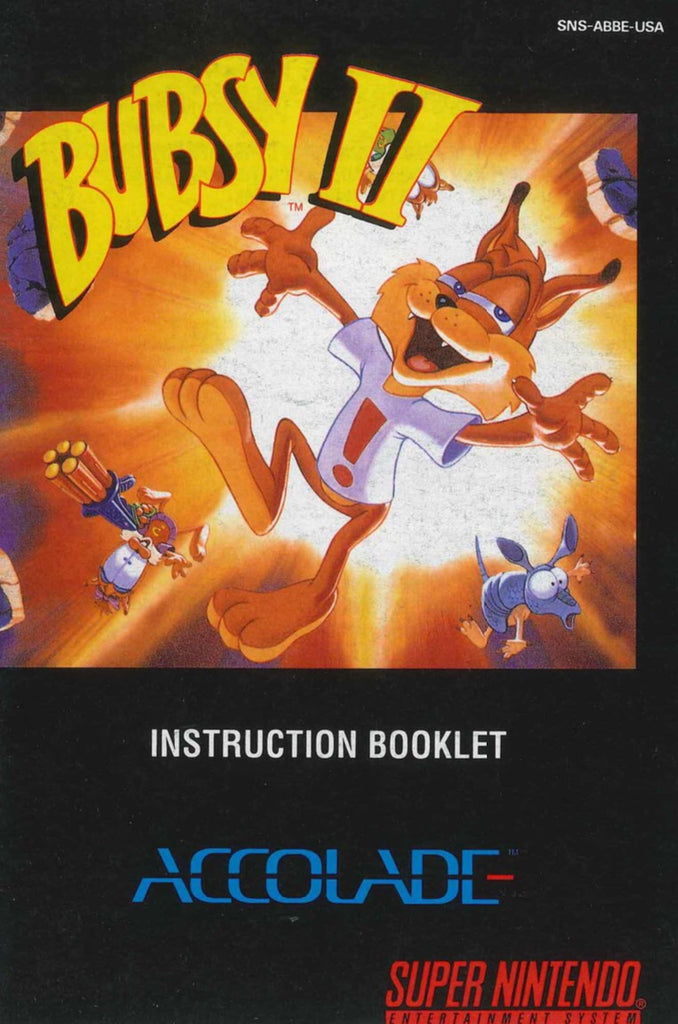 Bubsy II (Manual Only, SNES)