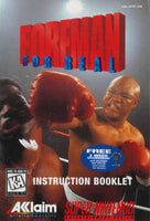 Foreman for Real (Manual Only, SNES)