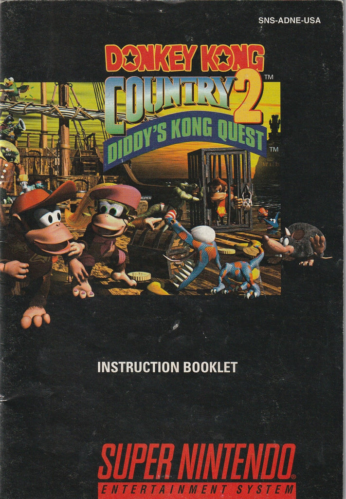 Donkey Kong Country 2: Diddy Kong Quest (SNES, Manual Only)